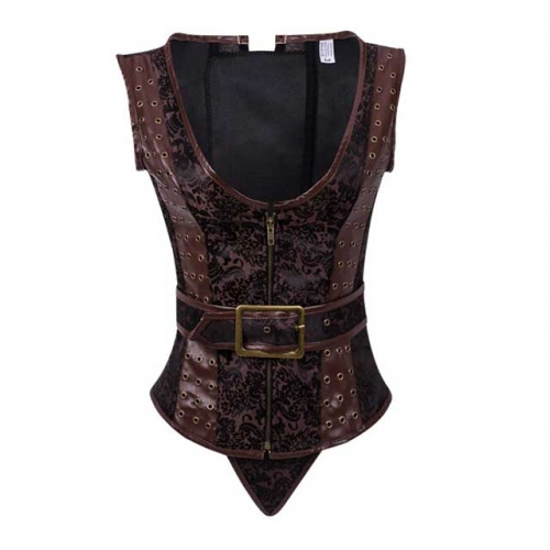 12 Steel Boned Brocade Steampunk Corset