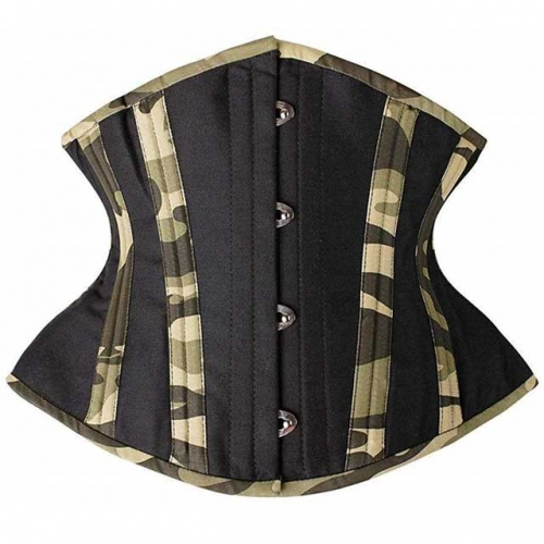 Camo Print Steel Boned Waist Training Corset